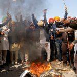 کشاورزان هندی اعتراضات خود را علیه قبض های کشاورزی ادامه می دهند  هند