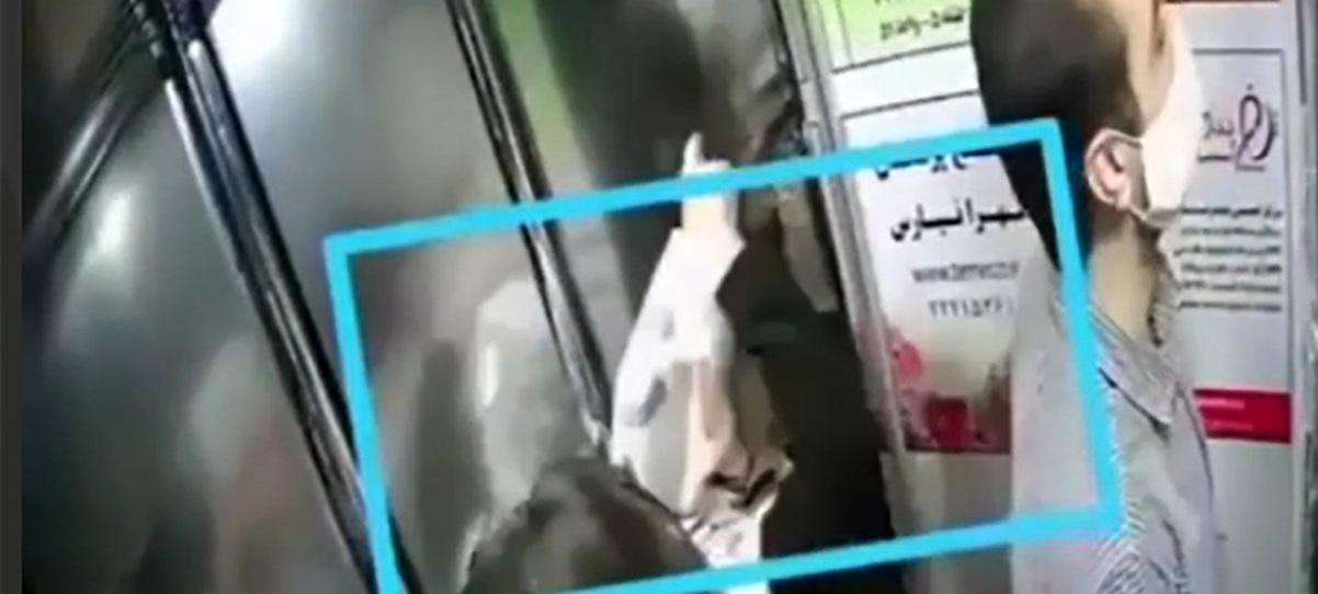 اقدام شیطانی زنی از تهران در آسانسور بین دو مرد / فیلم |  آخرین خبرها