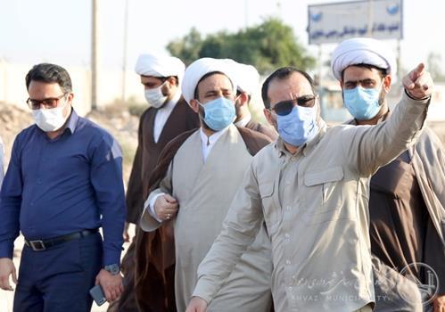 شهردار اهواز و امام در حال بازدید از پروژه های جاری شهرداری اهواز هستند  آخرین خبرها