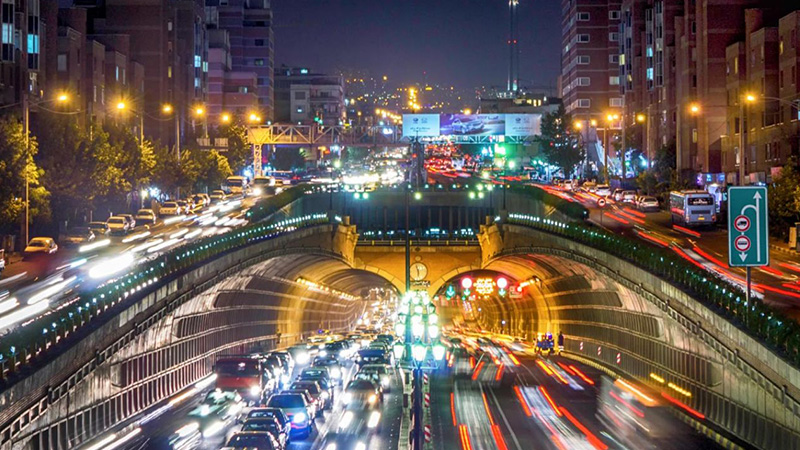 نقشه آنلاین ترافیک تهران ساعت 21:00    آخرین خبرها
